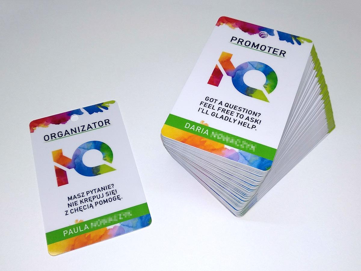 karty plastikowe PCV wizytówki podarunkowe klienta